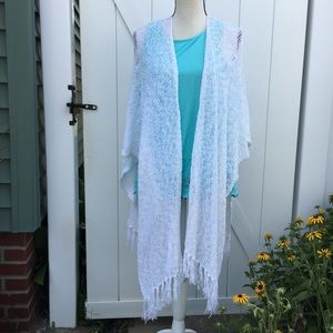 NWT Coldwater Creek Open Weave Wrap